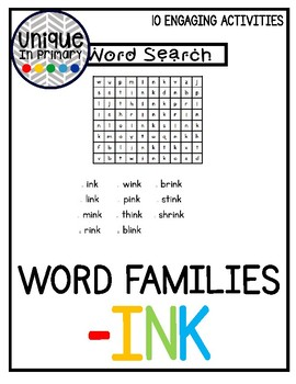 -ink Word Family Pack NO PREP