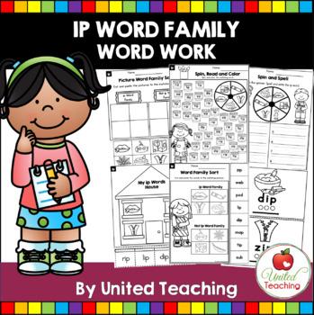 -ip CVC Word Family Word Work