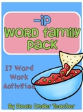 -ip Word Family Centers and Activities Pack