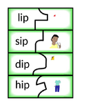 -ip and -in Word Family Puzzles