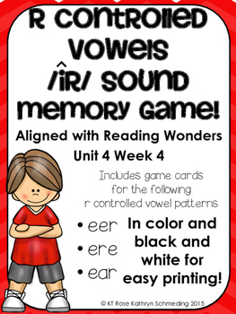 /ir/ Sound Memory Game---Aligned with Reading Wonders Unit 4 Week 4