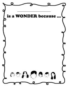 ... is a Wonder because...