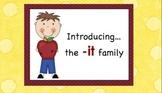 -it Chunk Word Family Lesson-Smart Board - 9 slides-Interactive-Grades PreK-3