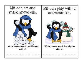 -it Word Family Book - Mit Can Sit AND Activities