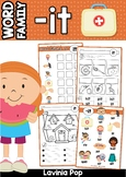 FREE Word Families Word Work Worksheets & Center Activities