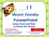 -it Word Family Phonics PowerPoint for K or 1st (Common Core!)