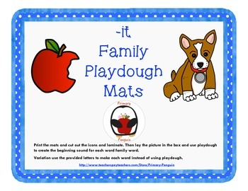 -it Word Family Playdough Mats