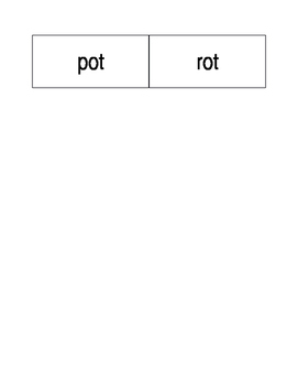 -it and -ot word family word sort