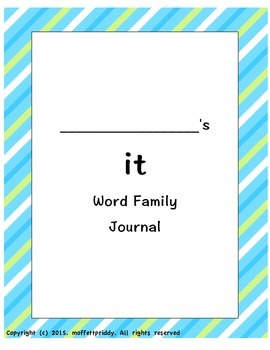 it word family journal
