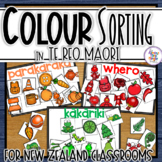 Te Reo Maori Sorting by Colour Mats & Pictures for New Zealand Classrooms
