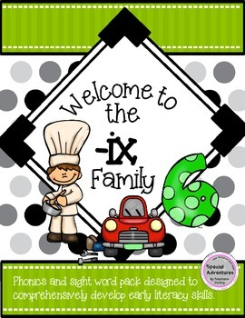 -ix WORD FAMILY PHONICS AND SIGHT WORD WORK EARLY LITERACY