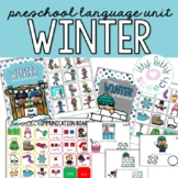 Winter Preschool Language Unit (+BOOM Cards)