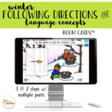 Winter Following Directions & Basic Concepts Boom Cards