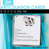 Articulation Cards: K, G, F, V, H, NG, NK sounds   Speech Therapy