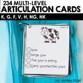Articulation Cards: K, G, F, V