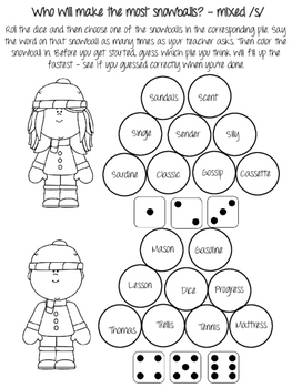 Winter NO PREP Articulation Packet! Just Print and Use!