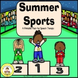 Summer Sports and Games Speech Therapy Printable Pack