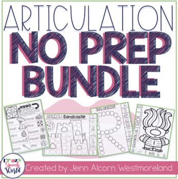 NO PREP Articulation Speech Therapy Bundle!