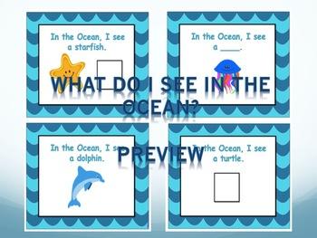 Ocean Bundle for Vocabulary, Concepts, Bingo, Cariboo, Directions!