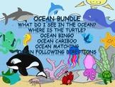 Ocean Bundle for Vocab, Concepts,Bingo, Cariboo, Directions