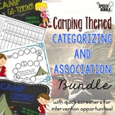#juneslpmusthave Categorizing and Association Camping Themed Bundle