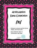 /k/ Articulation Data Collection Progress Monitoring Tool