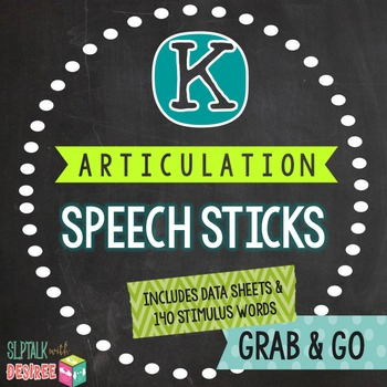 /k/ Articulation Speech Sticks