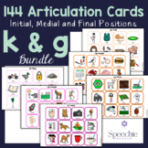 /k/ and /g/ Articulation Flashcards - Initial, Medial and
