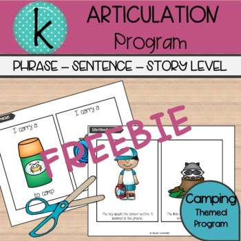 'k' sample booklet - Camping Chaos