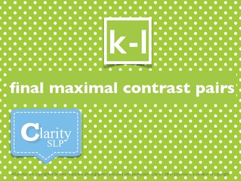 [k-l] FINAL Consonant Contrast Pairs