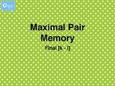 [k-l] FINAL Maximal Contrast Memory Cards