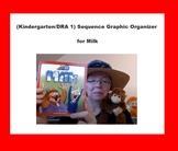 (kindergarten/DRA 1) Sequence Graphic Organizer for Milk