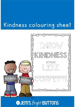 #kindnessnation Kindness colouring page