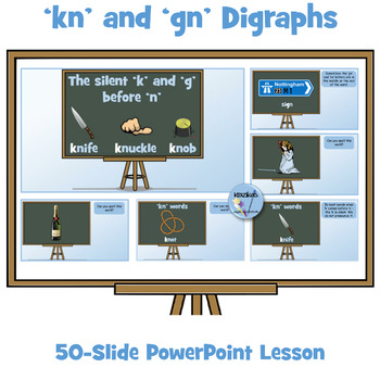 'kn' and 'gn' Digraphs - PowerPoint Lesson