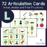 /l/ Articulation Flashcards - Initial, Medial and Final