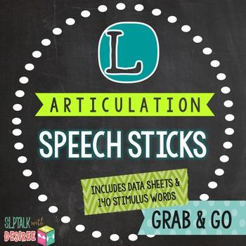 /l/ Articulation Speech Sticks