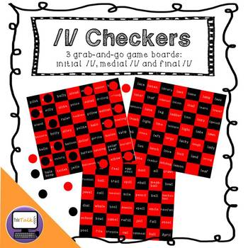 /l/ Checkers: Initial, Medial, Final