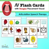 /l/ Sound Flashcards for Articulation Speech Therapy Tongu