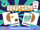 /l/ blends- Donut Game! Speech Sound Series