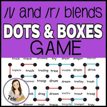 /l/ blends and /r/ blends Dots and Boxes Quick-Print Games