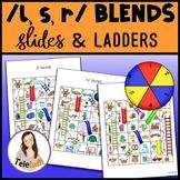 /l, s, r/ Blends Slides and Ladders: Articulation Practice Games