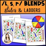 /l, s, r/ Blends Slides and Ladders: Articulation Practice Games
