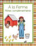 À la ferme fiches complémentaires (français et mathématique)