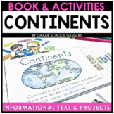 7 Continents and 5 Oceans Activities   Cut and Paste   Map   Reading Passages