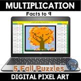 Multiplication Facts Fall Digital Pixel Art