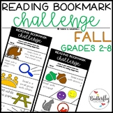 Reading Challenge Bookmarks   FALL Reading Challenges