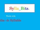 MAP Prep NWEA Reading -le Syllables SyllaBits Fluency Building Slideshow