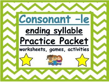 consonant -le syllable