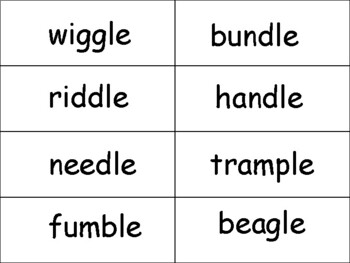 "-le syllable ""Stack Attack"" card game"