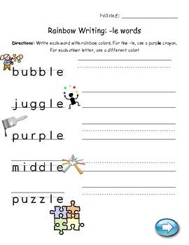 Image result for consonant le worksheets